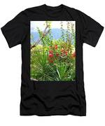 Tropical Red Against Cool Mountain Mists Men's T-Shirt (Athletic Fit)