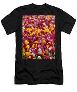 Tulip Bud Farm Portrait Men's T-Shirt (Athletic Fit)