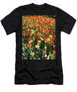 Tulips - Field With Love 50 Men's T-Shirt (Athletic Fit)