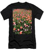 Tulips - Field With Love 55 Men's T-Shirt (Athletic Fit)