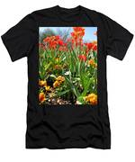 Tulips - Field With Love 64 Men's T-Shirt (Athletic Fit)
