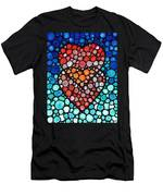 Two Hearts - Mosaic Art By Sharon Cummings Men's T-Shirt (Athletic Fit)