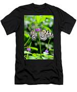 Two Paper Kite Or Rice Paper Or Large Tree Nymph Butterfly Also Known As Idea Leuconoe Men's T-Shirt (Athletic Fit)