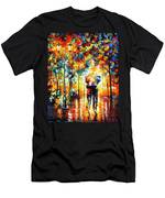 Under One Umbrella - Palette Knife Figures Oil Painting On Canvas By Leonid Afremov Men's T-Shirt (Athletic Fit)