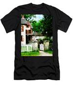 Victorian Home With Open Gate Men's T-Shirt (Athletic Fit)