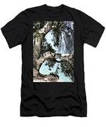 Water Beyond The Tree Men's T-Shirt (Athletic Fit)