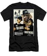 Weimaraner Art Canvas Print - The Blues Brothers Movie Poster Men's T-Shirt (Athletic Fit)