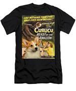 Welsh Corgi Pembroke Art Canvas Print - Curucu Movie Poster Men's T-Shirt (Athletic Fit)