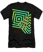 When Squares  Merge Green Men's T-Shirt (Athletic Fit)