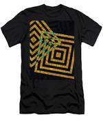 When Squares Merge Yellow Men's T-Shirt (Athletic Fit)