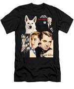 White German Shepherd Art Canvas Print - Suspicion Movie Poster Men's T-Shirt (Athletic Fit)