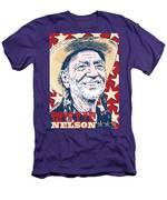Willie Nelson Pop Art Men's T-Shirt (Athletic Fit)