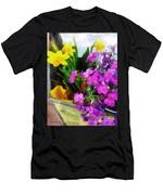 Window Box On A Windy Day Men's T-Shirt (Athletic Fit)