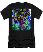 Windy Blue Green Tree Men's T-Shirt (Athletic Fit)