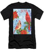 Winter Blue Cardinals-joy Card Men's T-Shirt (Athletic Fit)