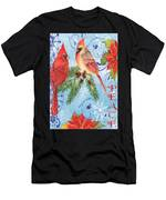 Winter Blue Cardinals-peace Card Men's T-Shirt (Athletic Fit)