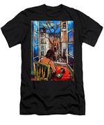 Woman At Window Men's T-Shirt (Athletic Fit)