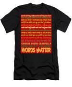 Words Matter Men's T-Shirt (Athletic Fit)