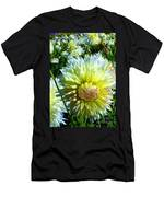 Yellow And White Dahlia Flowers Men's T-Shirt (Athletic Fit)