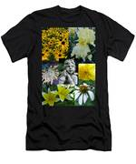 Yellow And White Flower Collage Men's T-Shirt (Athletic Fit)