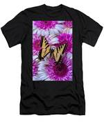 Yellow Butterfly Resting Men's T-Shirt (Athletic Fit)