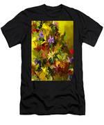 Yellow Fantasy Flower Garden Men's T-Shirt (Athletic Fit)