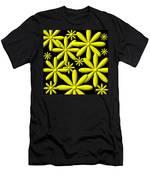 Yellow Flower Power 3d Digital Art Men's T-Shirt (Athletic Fit)