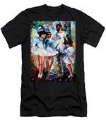 Young Ballerinas - Palette Knife Oil Painting On Canvas By Leonid Afremov Men's T-Shirt (Athletic Fit)