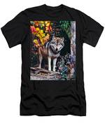 Young Timber Wolf Men's T-Shirt (Athletic Fit)
