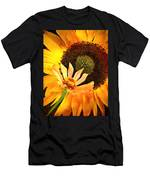 Zinnia And Sunflower Men's T-Shirt (Athletic Fit)