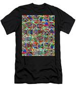 X 18 Talavera Fish Blessings Men's T-Shirt (Athletic Fit)