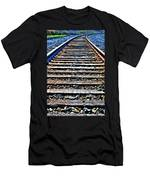 0004 Train Tracks  Men's T-Shirt (Athletic Fit)