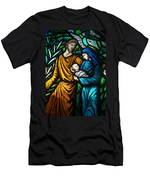 Holy Family Stained Glass Men's T-Shirt (Athletic Fit)