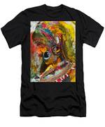African Bead Painting  Men's T-Shirt (Athletic Fit)