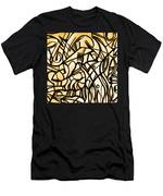 Abstract Art Gold Men's T-Shirt (Athletic Fit)