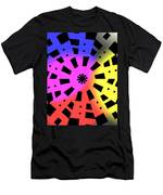 Abstract Color Forms Men's T-Shirt (Athletic Fit)