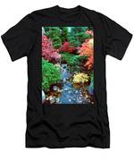 Autumn Garden Waterfall I Men's T-Shirt (Athletic Fit)