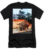 Bicycle By Train Station Men's T-Shirt (Athletic Fit)