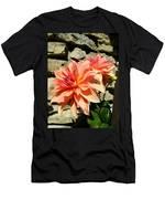 Blushing Peach Dahlias Men's T-Shirt (Athletic Fit)