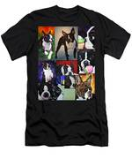 Boston Acrylic Collage Men's T-Shirt (Athletic Fit)
