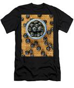 Bowl Of Fresh Blueberries Men's T-Shirt (Athletic Fit)