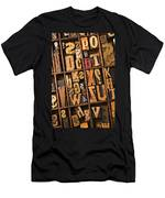 Box Of Old Wooden Type Setting Blocks Men's T-Shirt (Athletic Fit)