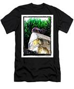 Cat On Medieval Wall Men's T-Shirt (Athletic Fit)