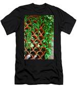 Clay Pattern Wall With Vines Men's T-Shirt (Athletic Fit)