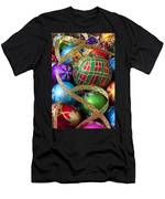 Colorful Ornaments With Ribbon Men's T-Shirt (Athletic Fit)