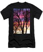Colorful Silhouetted Trees 33 Men's T-Shirt (Athletic Fit)