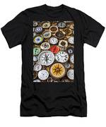 Compases And Pocket Watches  Men's T-Shirt (Athletic Fit)