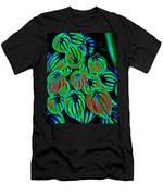 Cosmic Watermelon Leaves Men's T-Shirt (Athletic Fit)