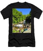 Day At Kent Falls State Park Men's T-Shirt (Athletic Fit)