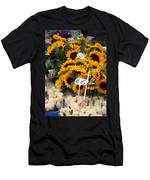 European Markets - Sunflowers And Roses Men's T-Shirt (Athletic Fit)